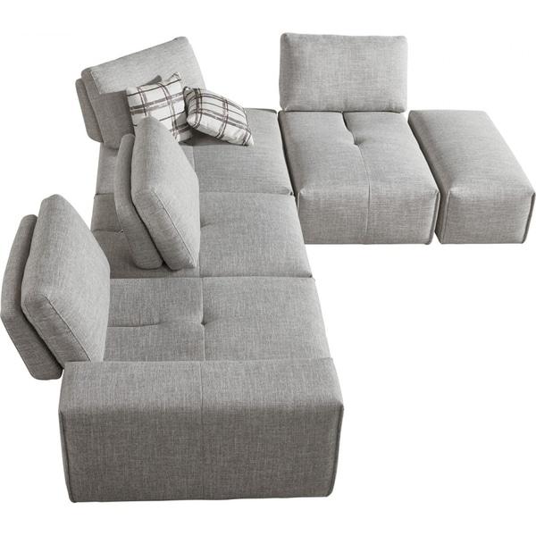 Shop Divani Casa Platte Grey Modular Sectional Sofa Free Shipping Today Overstock 21754672