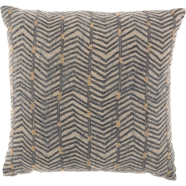 Studio Nyc Design Arrow Embroidery Linen Grey Throw Pillow Free