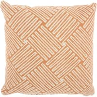 Studio NYC Design Basketweave Quartz Orange Throw Pillow (20-Inch X 20-Inch)