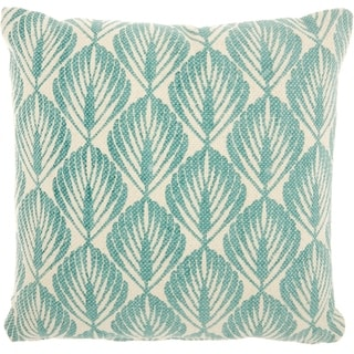 Studio NYC Design Leaves Mineral Green Throw Pillow (20-Inch X 20-Inch)