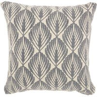 Studio NYC Design Leaves Fossil Grey Throw Pillow (20-Inch X 20-Inch)
