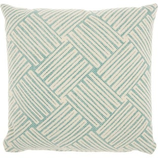 Studio NYC Design Basketweave Mineral Green Throw Pillow (20-Inch X 20-Inch)
