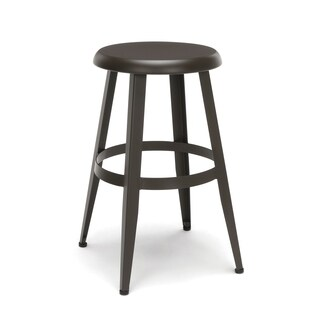 """OFM Edge 24"""" Stool - Backless Stool with Steel Foot Ring (33924M)"""