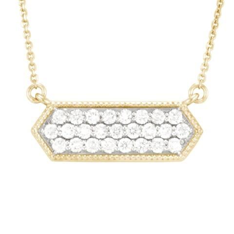 """Pave Hexagon"" Diamond necklace .50 ct tw by Antwerp"
