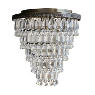 D'Angelo 13 Light 6 Tier Clear Glass Crystal Prism Chandelier, Chrome