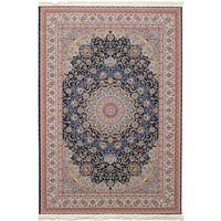 eCarpetGallery Persian Collection Mashad Blue Rug - 6' x 9'