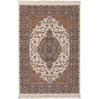 eCarpetGallery Power-loomed Persian Collection Tabriz Ivory Rug - 6' x 9'