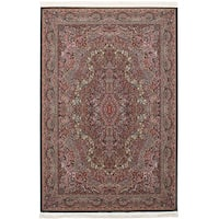 eCarpetGallery Persian Collection Kerman Blue Power-loomed Rug - 6' x 9'