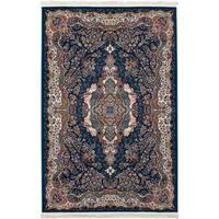 eCarpetGallery Persian Collection Tabriz Power-loomed Dark Blue/Multicolored Indoor Rectangular Rug - 6' x 9'