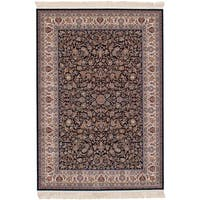 eCarpetGallery Persian Collection Mashad Blue Power-loomed Area Rug - 6' x 9'