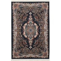 eCarpetGallery Persian Collection Power-loomed Tabriz Blue/Copper/Cream Rug - 6' x 9'