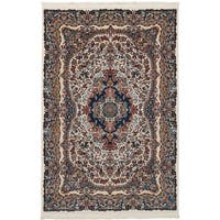 eCarpetGallery Persian Collection Ivory Power-loomed Isfahan Rug - 6' x 9'