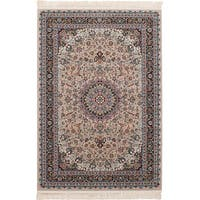 eCarpetGallery Persian Collection Tabriz Brown Power-loomed Rug - 6' x 9'