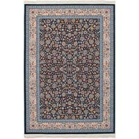 eCarpetGallery Persian Collection Nain Blue Power-loomed Rug - 6' x 9'