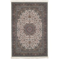 eCarpetGallery Persian Collection Kashan Ivory Power-loomed Area Rug - 6' x 9'