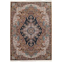eCarpetGallery Persian Collection Tabriz Brown Power-loomed Area Rug - 6' x 9'
