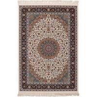 eCarpetGallery Persian Collection Mashad Ivory Rug - 6' x 9'