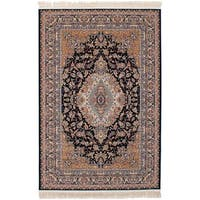 eCarpetGallery Persian Collection Tabriz Blue Power-loomed Rug - 6' x 9'