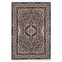 eCarpetGallery Persian Collection Isfahan Blue Power-loomed Rug - 6' x 9'