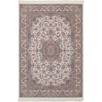 eCarpetGallery Persian Collection Tabriz Ivory Power-loomed Rug - 6' x 9'