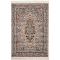 eCarpetGallery Persian Collection Qom Brown Power-loomed Area Rug - 6' x 9'