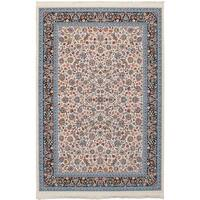 eCarpetGallery Persian Collection Nain Power-loomed Ivory/Multicolored Indoor Rectangular Rug - 6' x 9'