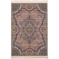 eCarpetGallery Persian Collection Isfahan Brown Power-loomed Rug - 6' x 9'