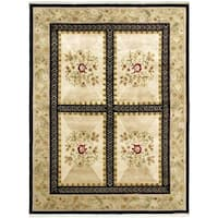 Hand-knotted Opulence Cream Wool Rug - 7'9 x 9'6