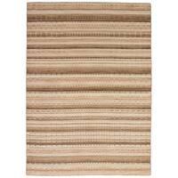 eCarpetGallery Luribaft Gabbeh Riz Brown Wool Hand-knotted Area Rug (5'5 x 7'7)