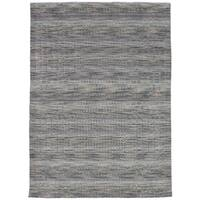 eCarpetGallery Hand-Knotted Luribaft Gabbeh Riz Green, Grey  Wool Rug (5'3 x 7'7)
