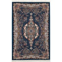eCarpetGallery Persian Collection Tabriz Blue Power-loomed Rug (4'11 x 7'5)
