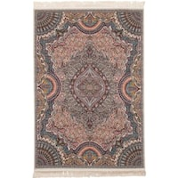 eCarpetGallery Power-loomed Persian Collection Isfahan Brown Rug (4'11 x 7'5)