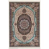 eCarpetGallery Persian Collection Qom Ivory Rug - 4'11 x 7'5