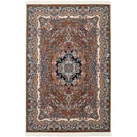 eCarpetGallery Persian Collection Isfahan Brown Power-loomed Rug (4'11 x 7'5)