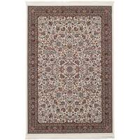 eCarpetGallery Persian Robot Woven Collection Kashan Power-loomed Ivory/Multicolored Indoor Rectangular Rug (4'11 x 7'5)