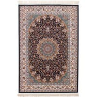 eCarpetGallery Persian Collection Mashad Blue Rug