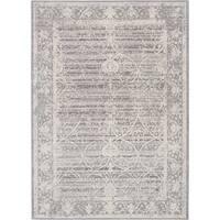 Ecarpetgallery Aqua Silk Blue/Grey Polyester Rug