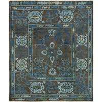 eCarpetGallery  Hand-knotted Shalimar Brown Wool Rug (8'0 x 9'7)