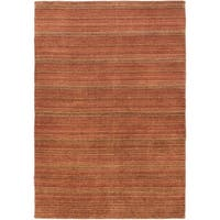 eCarpetGallery Hand-knotted Luribaft Gabbeh Riz Brown Wool and Cotton Rug (4'6 x 6'6)