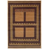 eCarpetGallery  Hand-knotted Peshawar Bokhara Light Brown Wool Rug (6'2 x 8'10)