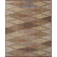 eCarpetGallery  Hand-knotted Arlequin Brown Wool Rug (8'0 x 10'0)