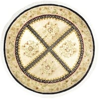 Hand-knotted Opulence Cream Wool Rug (5'11 Round)