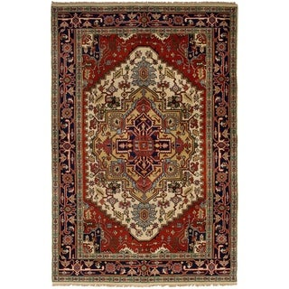 eCarpetGallery Hand-knotted Serapi Heritage Red Wool Rug (5'9 x 9'1)