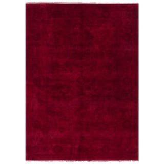 eCarpetGallery Red Wool Hand-knotted Color Transition Rug (5'10 x 8'9)