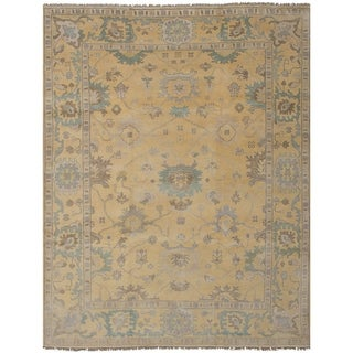 eCarpetGallery Royal Ushak Yellow Wool Hand-knotted Rug (9'1 x 11'9)