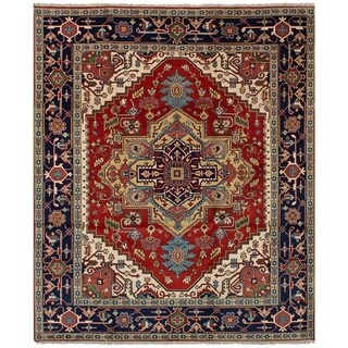 eCarpetGallery Serapi Heritage Brown Wool Hand-knotted Rug (7'11x10')