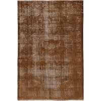 eCarpetGallery Hand-knotted Persian Vogue Brown Wool Rug (6'6 x 10')