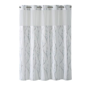 Hookless® Shower Curtain Cherry Bloom White blue