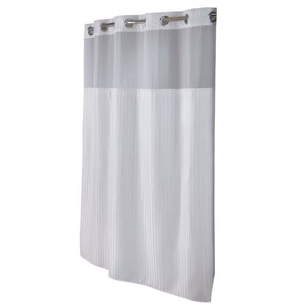 Hookless® Shower Curtain Classic Herringbone White