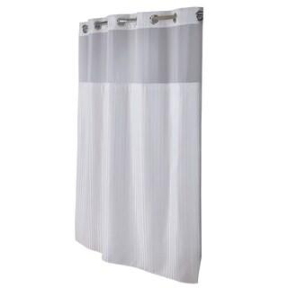 Hookless® Shower Curtain Classic Herringbone White